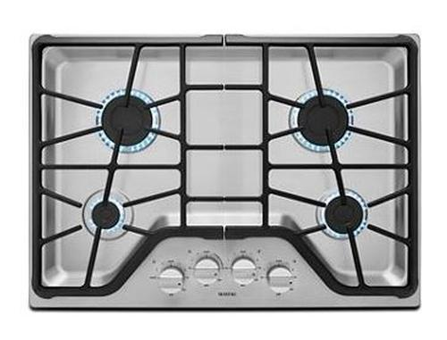 Maytag 30-INCH 4-BURNER GAS COOKTOP WITH POWER™ BURNER MGC7430DS