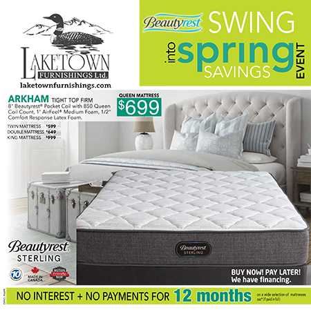 Laketown Furnishings Beautyrest Swing into Spring event